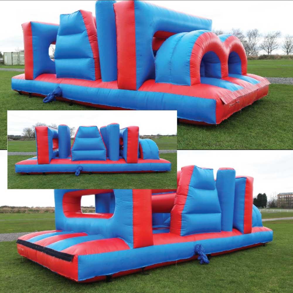 Blue Red Assault Course Bouncy Castle Hire York