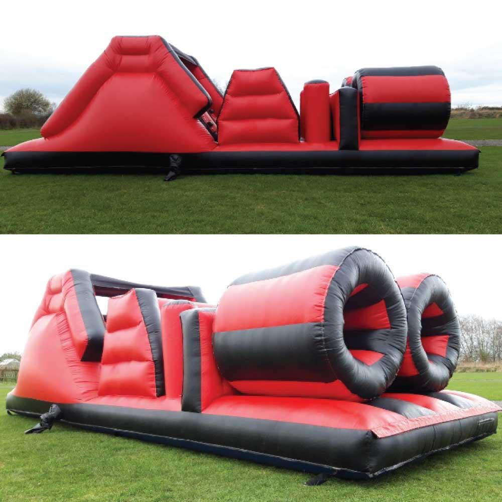 Red Black Assault Course Bouncy Castle Hire York