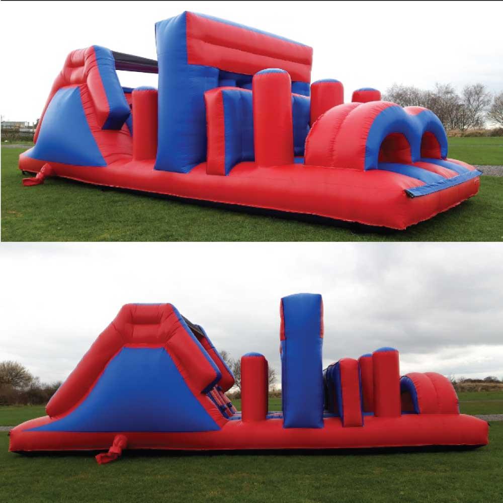 Red Blue Assault Course Bouncy Castle Hire York