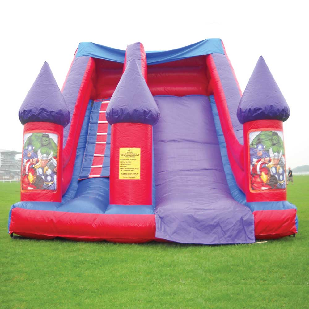 Super Heroes Big Slide Bouncy Castle Hire York