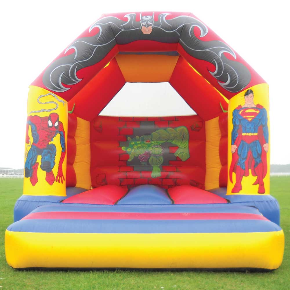 Super Heroes Bouncy Castle Hire York